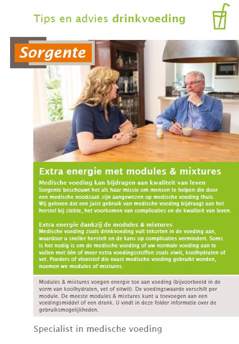 Sorgente DV brochure tips en advies extra energie met modules en mixtures